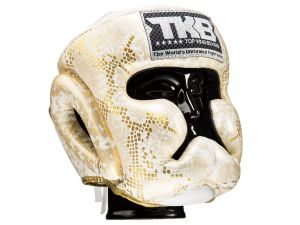 "KASK BOKSERSKI SPARINGOWY TOP KING TKHGSS-02WH_GD ""SUPER STAR SNAKE"" (white/gold)"