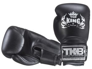 "RĘKAWICE BOKSERSKIE TOP KING TKBGSA ""SUPER AIR"" (222) (black)"