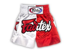 "SPODENKI TAJSKIE FAIRTEX BS113 (red/white) ""Patriot Limited Collection"""