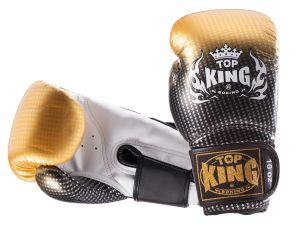 "RĘKAWICE BOKSERSKIE TOP KING TKBGSS-01GD ""SUPER STAR AIR"" (gold/black/white)"