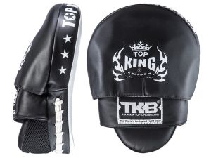 "TARCZE BOKSERSKIE TOP KING TKFMS ""SUPER"" (black/white) - PARA - 2SZT"