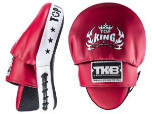 "TARCZE BOKSERSKIE TOP KING TKFMS ""SUPER"" (red/black) - PARA - 2SZT"