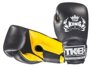 "RĘKAWICE BOKSERSKIE TOP KING TKBGSA ""SUPER AIR"" (522) (black/yellow)"