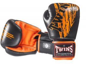 RĘKAWICE BOKSERSKIE TWINS SPECIAL FBGV-TW2 (black/orange palm)