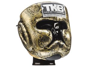"KASK BOKSERSKI SPARINGOWY TOP KING TKHGSS-02BK_GD ""SUPER STAR SNAKE"" (gold)"