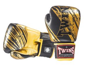RĘKAWICE BOKSERSKIE TWINS SPECIAL FBGV-TW3 (black/gold palm)