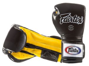 "RĘKAWICE BOKSERSKIE FAIRTEX BGV9 (black/yellow palm) ""Mexican Style"""