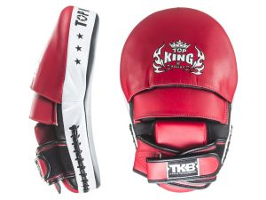 "TARCZE BOKSERSKIE TOP KING TKFM ""EXTREME"" (black/red/white) PARA - 2SZT"