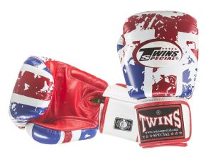 RĘKAWICE BOKSERSKIE TWINS SPECIAL FBGV-44UK (white/red/blue) UNITED KINGDOM